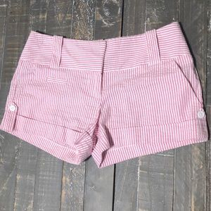 Pink and White Striped Charlotte Russe Shorts